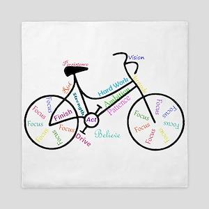 Motivational Words Bike Hobby or Sport Queen Duvet