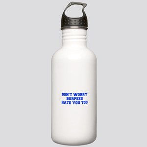 BURPEES-HATE-YOU-TOO-FRESH-BLUE Water Bottle