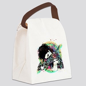 Sexy Tattooed Woman  Canvas Lunch Bag