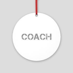 coach-CAP-GRAY Ornament (Round)