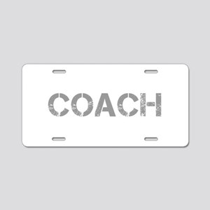 coach-CAP-GRAY Aluminum License Plate
