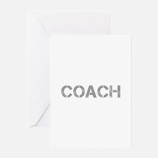 coach-CAP-GRAY Greeting Cards