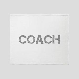 coach-CAP-GRAY Throw Blanket