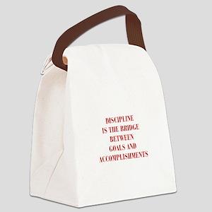 DISCIPLINE-IS-THE-BRIDGE-BOD-RED Canvas Lunch Bag