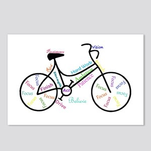 Motivational Words Bike Hobby or Sport Postcards (