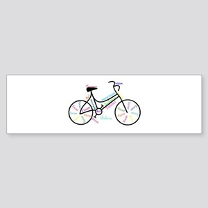 Motivational Words Bike Hobby or Sport Bumper Stic