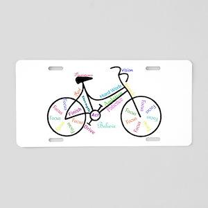 Motivational Words Bike Hobby or Sport Aluminum Li