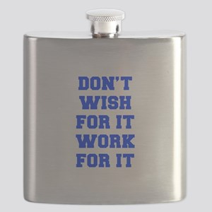 DONT-WISH-FOR-IT-FRESH-BLUE Flask