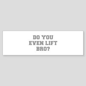 DO-YOU-EVEN-LIFE-BRO-FRESH-GRAY Bumper Sticker