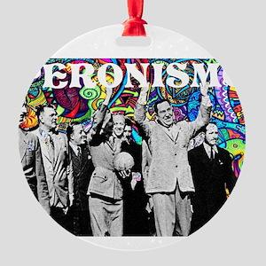 Juan & Evita Peron Round Ornament