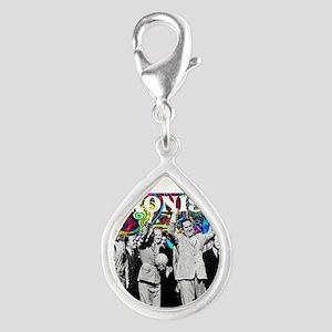Juan & Evita Peron Silver Teardrop Charm