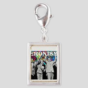 Juan & Evita Peron Silver Portrait Charm