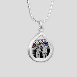 Juan & Evita Peron Silver Teardrop Necklace