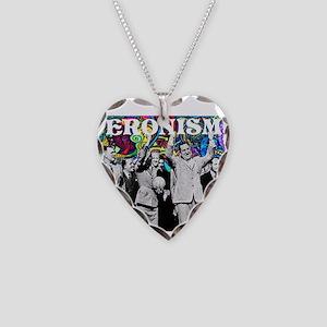 Juan & Evita Peron Necklace Heart Charm