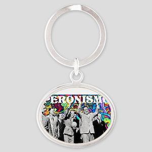 Juan & Evita Peron Oval Keychain