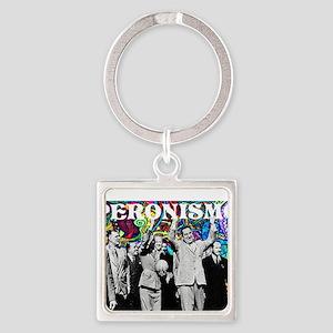 Juan & Evita Peron Square Keychain