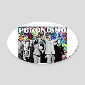 Juan & Evita Peron Oval Car Magnet