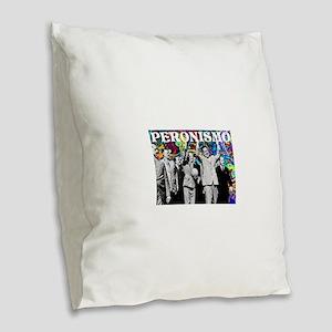 Juan & Evita Peron Burlap Throw Pillow