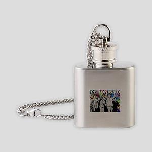 Juan & Evita Peron Flask Necklace