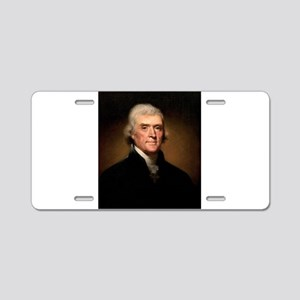 Thomas Jefferson Aluminum License Plate