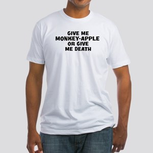 Give me Monkey-Apple Fitted T-Shirt