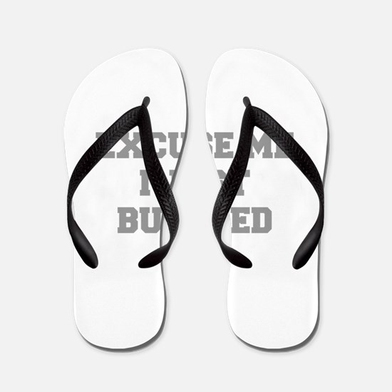 EXCUSE-ME-I-JUST-BURPEED-FRESH-GRAY Flip Flops
