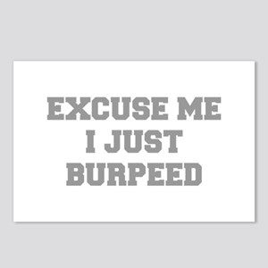 EXCUSE-ME-I-JUST-BURPEED-FRESH-GRAY Postcards (Pac