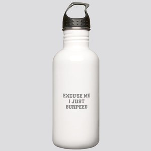 EXCUSE-ME-I-JUST-BURPEED-FRESH-GRAY Water Bottle
