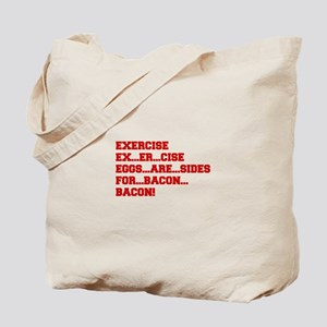 EXERCISE-BACON-FRESH-RED Tote Bag