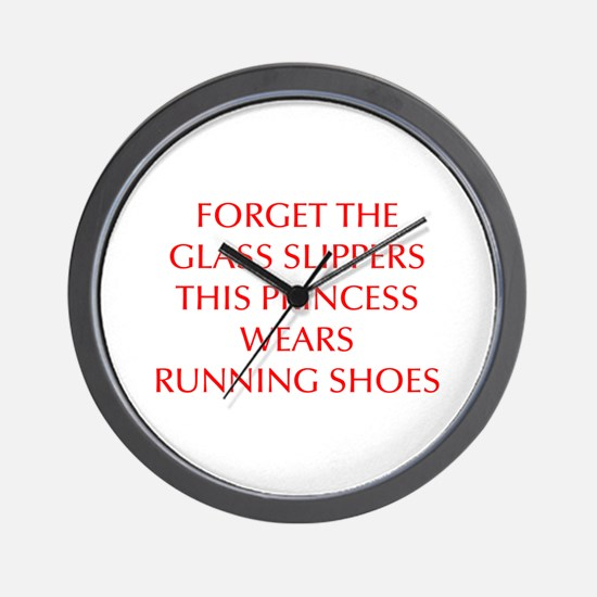 FORGET-THE-GLASS-SLIPPERS-OPT-RED Wall Clock