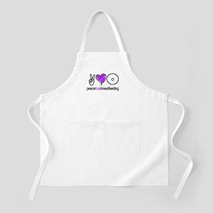 Peace, Love & BF(Purple) BBQ Apron