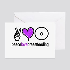 Peace, Love & BF(Purple) Greeting Cards (Package o