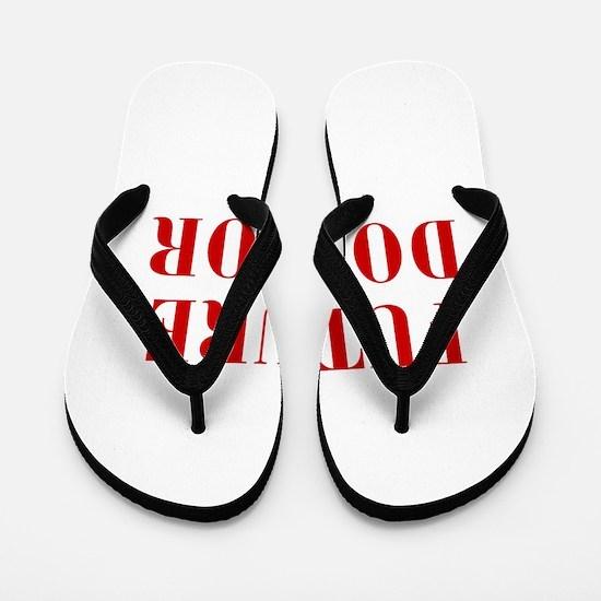 FUTURE-DOCTOR-BOD-RED Flip Flops