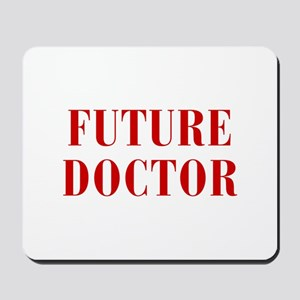 FUTURE-DOCTOR-BOD-RED Mousepad