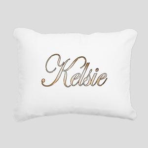 Gold Kelsie Rectangular Canvas Pillow