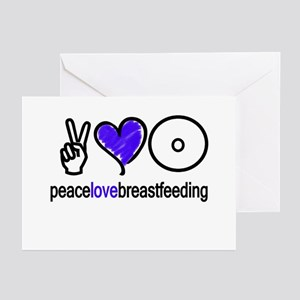 Peace, Love & BF(Blue) Greeting Cards (Package of