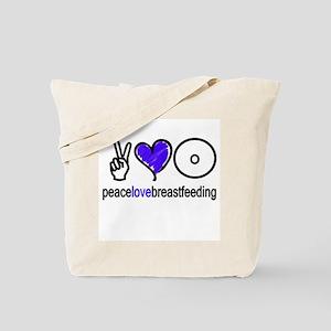 Peace, Love & BF(Blue) Tote Bag