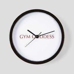 GYM-GODDESS-OPT-RED Wall Clock