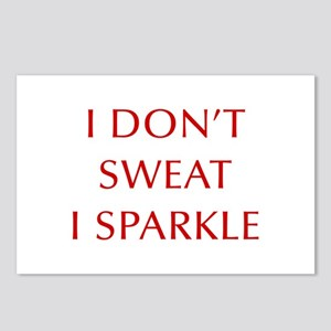 I-DONT-SWEAT-I-SPARKLE-OPT-RED Postcards (Package