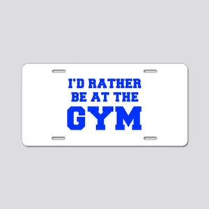 ID-RATHER-BE-AT-THE-GYM-FRESH-BLUE Aluminum Licens