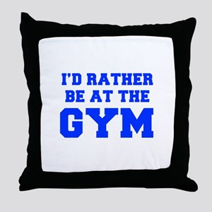ID-RATHER-BE-AT-THE-GYM-FRESH-BLUE Throw Pillow