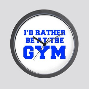 ID-RATHER-BE-AT-THE-GYM-FRESH-BLUE Wall Clock