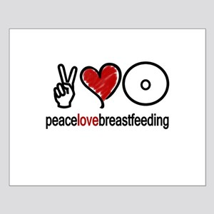 Peace, Love & Breastfeeding  Small Poster