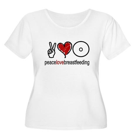 Peace, Love & Breastfeeding Women's Plus Size Sco
