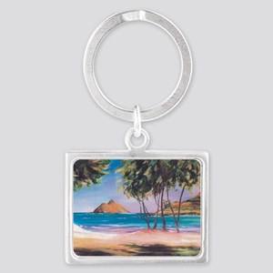 Kailua Beach Landscape Keychain