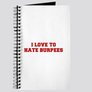 I-LOVE-HATE-BURPEES-FRESH-RED Journal