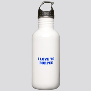 I-LOVE-TO-BURPEE-FRESH-BLUE Water Bottle