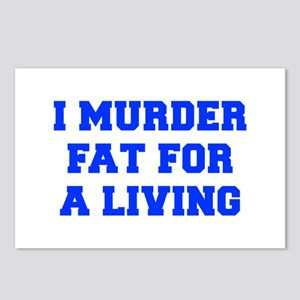 I-MURDER-FAT-FRESH-BLUE Postcards (Package of 8)