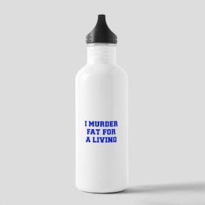 I-MURDER-FAT-FRESH-BLUE Water Bottle