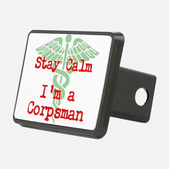 Stay Calm I'm a Corpsman Hitch Cover